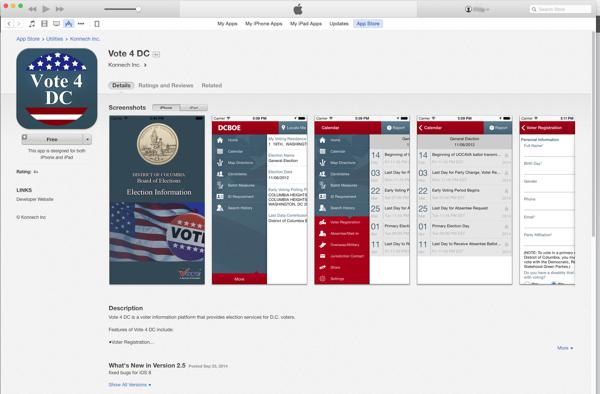 DC's new App that makes it easier for a citizen to VOTE!