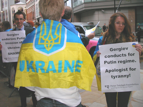 Gergiev Protest, APRIL 2014 - Credit : Peter Tatchell Foundation
