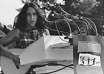 Joan Baez, 1963, March on Washington. Credit: Scherman, Rowland, U.S. Information Agency. Public Domain.