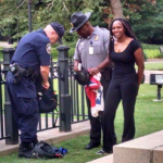 Bree Newsome getting arrested - Credit: NecoleBitchie.com