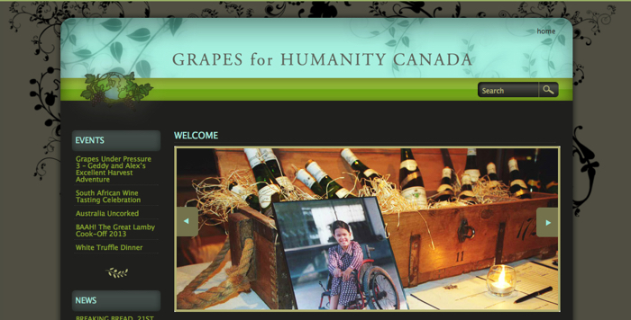 Grapes for Humanity, helping those less fortunate around the world.