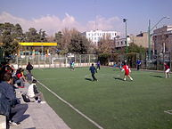 Football field in Tehran / Credit: Amirreza/CC